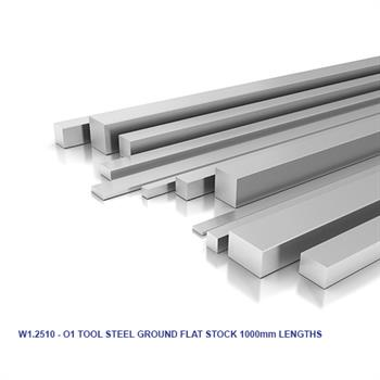 1.2510 - O1 TOOL STEEL METRIC GROUND FLAT STOCK 1000mm LENGTHS